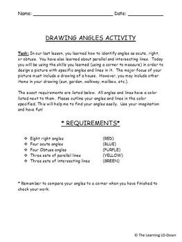 Angles: Drawing Angles Activity