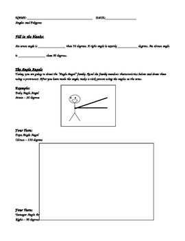 Angles: Drawing Obtuse, Right and Acute