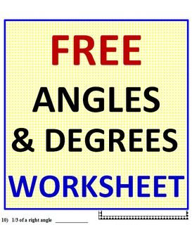Angles FREE Worksheet
