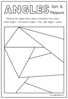 Angles - FREEBIE - Sort and Measure