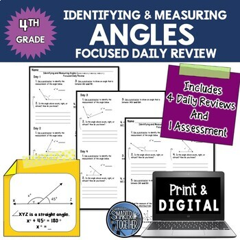 Angles - Focused Daily Review - 4th Grade