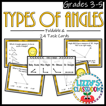 Types of Angles *Foldable and Task Cards*