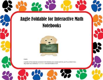 Angles Foldable for Interactive Math Notebooks