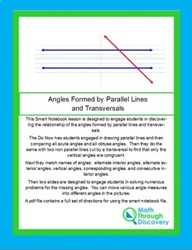 Geometry:  Angles Formed by Parallel Lines and Transversals