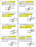 Angles Formed by a Transversal Foldable for Interactive Notebooks