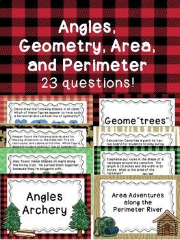 Angles, Geometry, Area, and Perimeter
