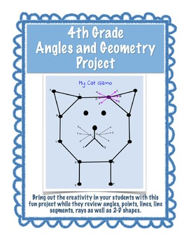 End of the Year Project - Angles & Geometry - EDITABLE