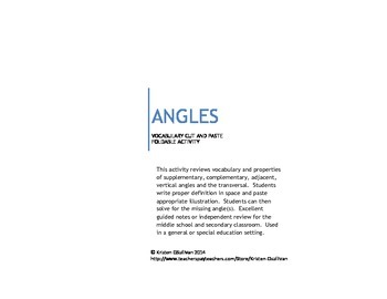 Angles: Guided Notes Cut & Paste Activity