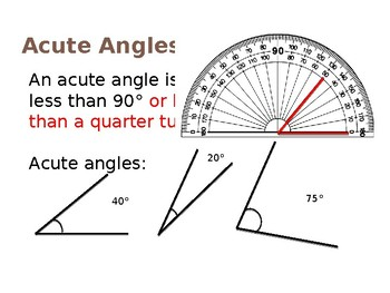 Angles - Identifying and Measuring