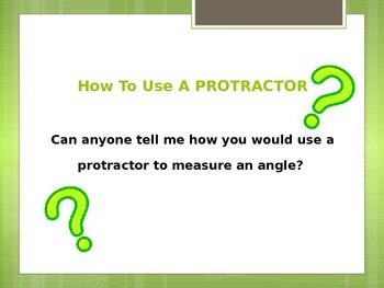 Angles Lesson How to Use A Protractor