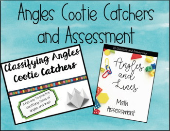 Angles, Lines, Line Segments, Points, and Rays Cootie Catcher AND 4G Assessments