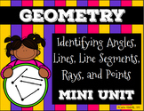 Angles, Lines, Line Segments, Rays, Points (and Classifications) Mini Unit