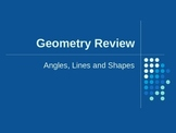 Angles, Lines and Polygons PowerPoint Review
