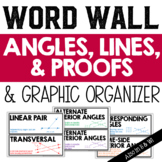 Angles, Lines, and Proofs Vocabulary Word Wall and Graphic Organizer