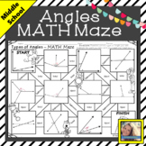 Angles MATH Maze Free Digital Activity Distance Learning