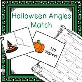 Angles Matching Game- Halloween Theme