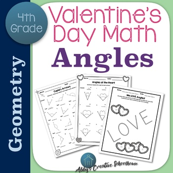 Valentines Day Math Angles Activities By Abbys Creative Schoolhouse
