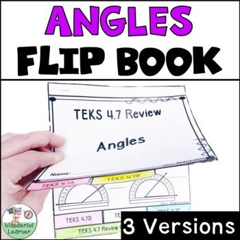 Angles Math Flipbook Review TEKS 4.7
