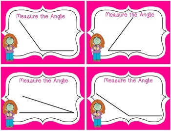 Angles Math Station Freebie