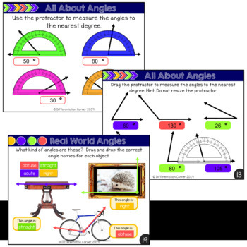 Angles: Measuring, Adding and Subtracting, Identifying Types