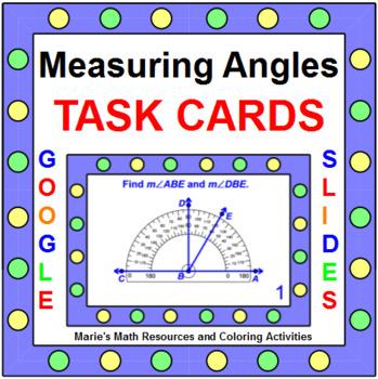 ANGLES: MEASURING ANGLES - TASK CARDS