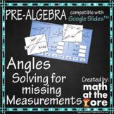 Angles - Missing Measurements - GOOGLE Slides