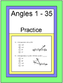 ANGLES: PRACTICE ON DIFFERENT TYPES OF ANGLE PROBLEMS (1 - 35) 20 EXIT TICKETS
