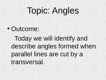 Angles Notes