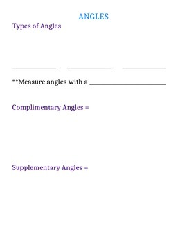 Angles Notes Page