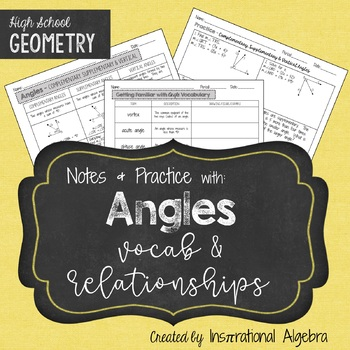 Angles: Notes & Practice