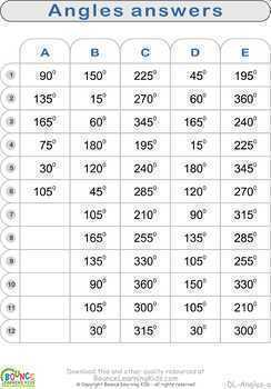 Angles (6 Numeracy sheets)