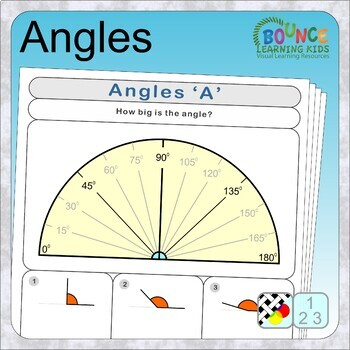 Angles (6 distance learning worksheets for Numeracy)