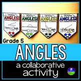 Classifying, Measuring, Drawing Angles Math Pennant Activity