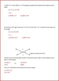 Angles, Points, Lines and Planes (WS)