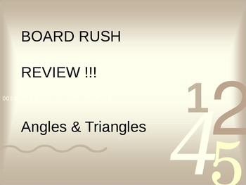 Angles & Polygons Board Rush