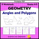Angles & Polygons Worksheets - set of 3 - Geometry Basics