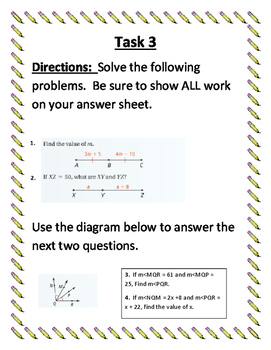 Angles, Postulates, and Segment Addition Review