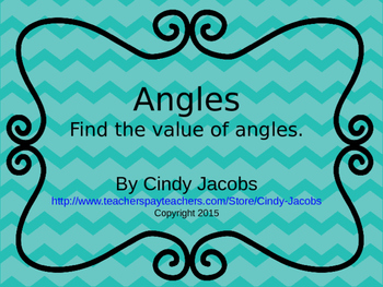 Angles Power Point Complementary Angles Supplementary Angles