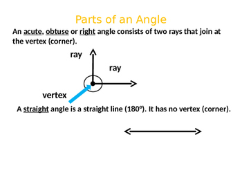 Angles Power Point Identifying Angles Right Acute Obtuse Straight Angles