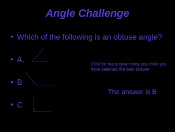 Angles Presentation - Straight, Acute, Obtuse, and Right Angles