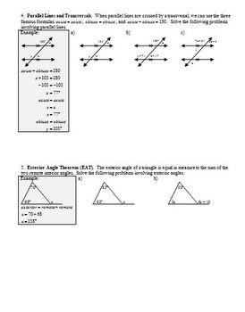 Angles Problem Solving Fall 2013 (Editable)