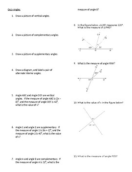 Angles Quiz