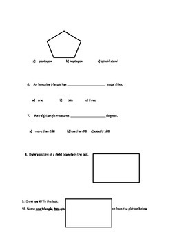 Angles, Rays, and Points Quiz