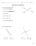 Angles Review: Complementary, Supplementary, Vertical & Adjacent