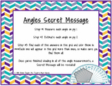 Angles Secret Message (Measuring angles with a protractor) 4.7C