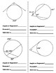 Angles & Segments in Circles Speed Dating! (or Task Cards)
