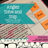 Angles Solve and Snip® Interactive Word Problems