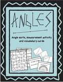 Angles- Sorts, Measurement Activity and Vocabulary