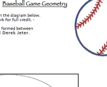 Angles, Surface Area, & Volume Summative Assessment (Baseball Game Theme)