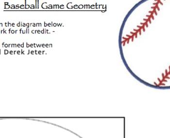 Angles, Surface Area, & Volume Summative Assessment (Baseball Game Theme)